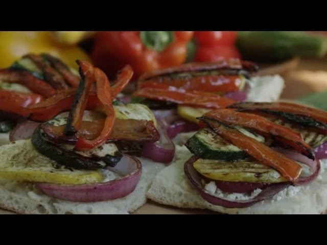 Veggie Sandwich Recipe - How to Make Grilled Veggie Sandwiches
