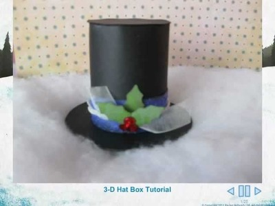 3 D Snowman Hat Tutorial video