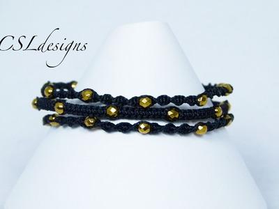 3 strand macrame bracelet