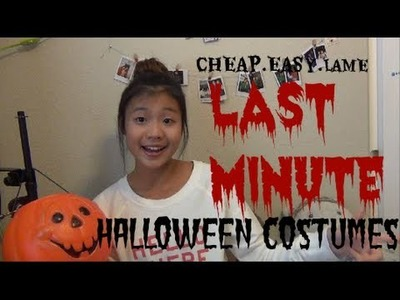CHEAP AND EASY LAST MINUTE HALLOWEEN COSTUME IDEAS | Valerie Loo