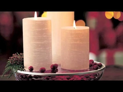 Christmas Decorations - Iced Snowberries Candles