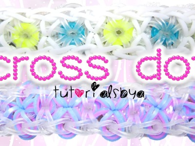 Cross Dot Rainbow Loom Bracelet Tutorial | How To