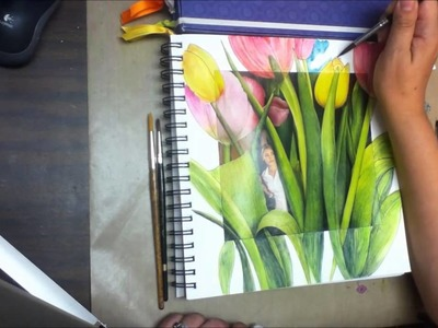 Fairy Tulips journal page tutorial