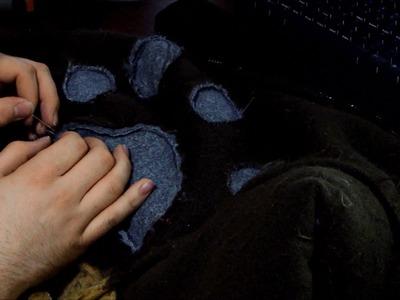 Fursuit Tutorial: Sewing Markings.Spots Into A Bodysuit