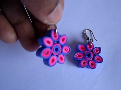 Handmade Paper Quilling Earrings 2