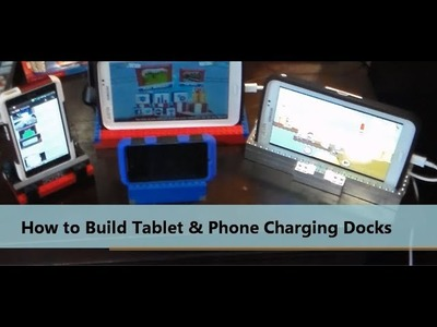 How to Build Lego Charging Docks for Phones Tablets review