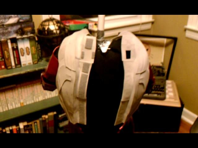 How to create a one-part Ironman chest and back costume piece
