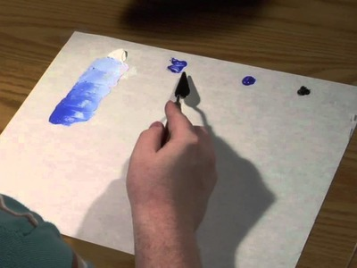 How to Create a Tone in a Monochromatic Painting : Art Techniques