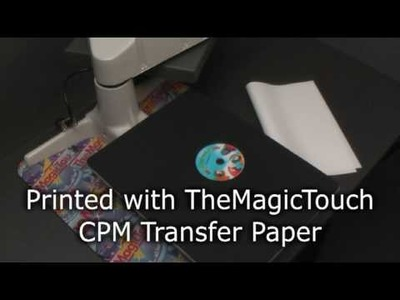 How to decorate a CD.DVD with TheMagicTouch® CPM Transfer Paper