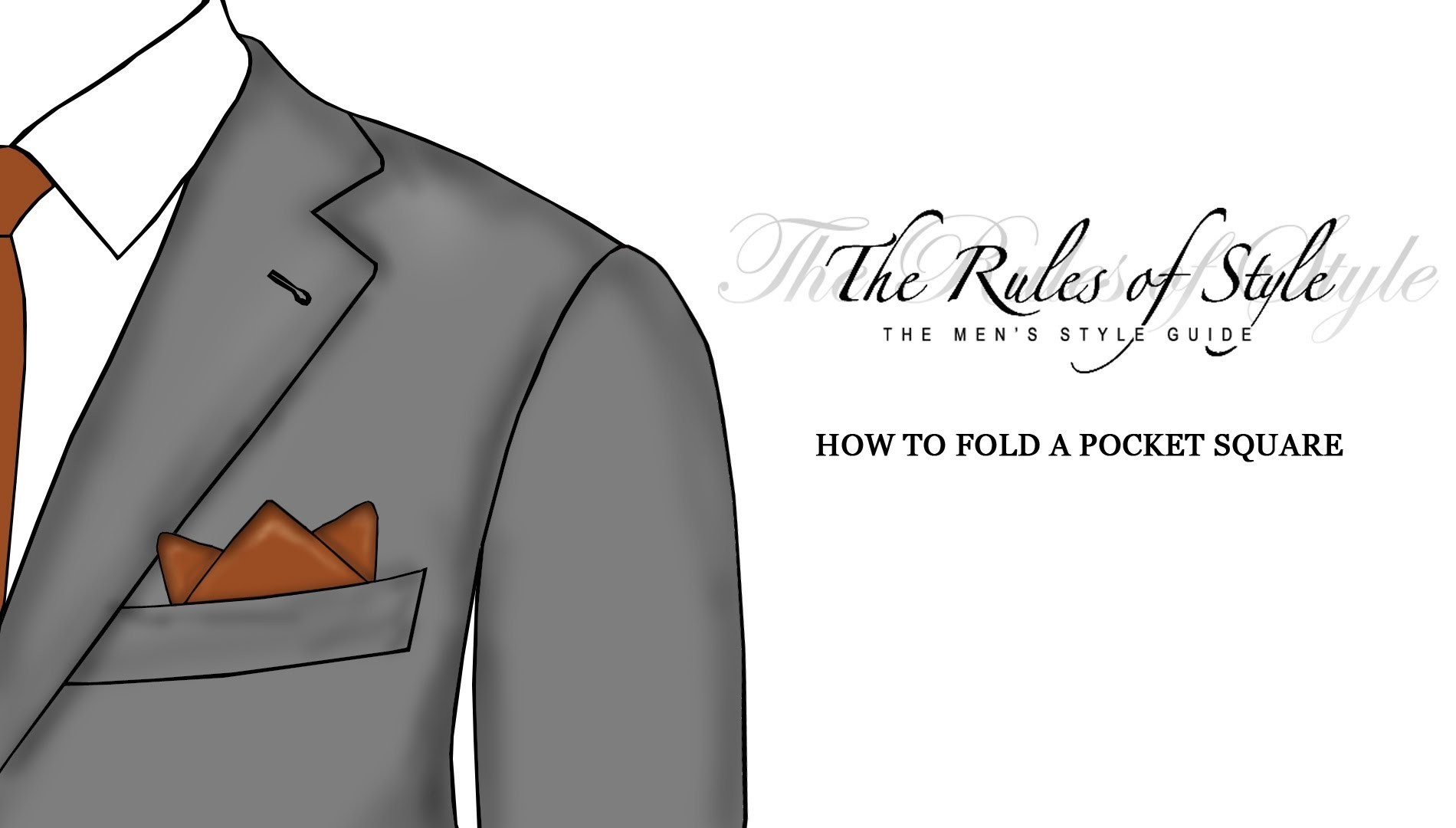 How To Fold A Pocket Square - Three Point