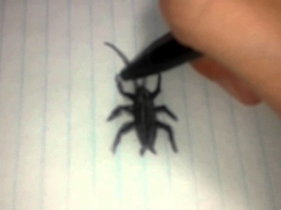 How to make a fake cockroach out of paper