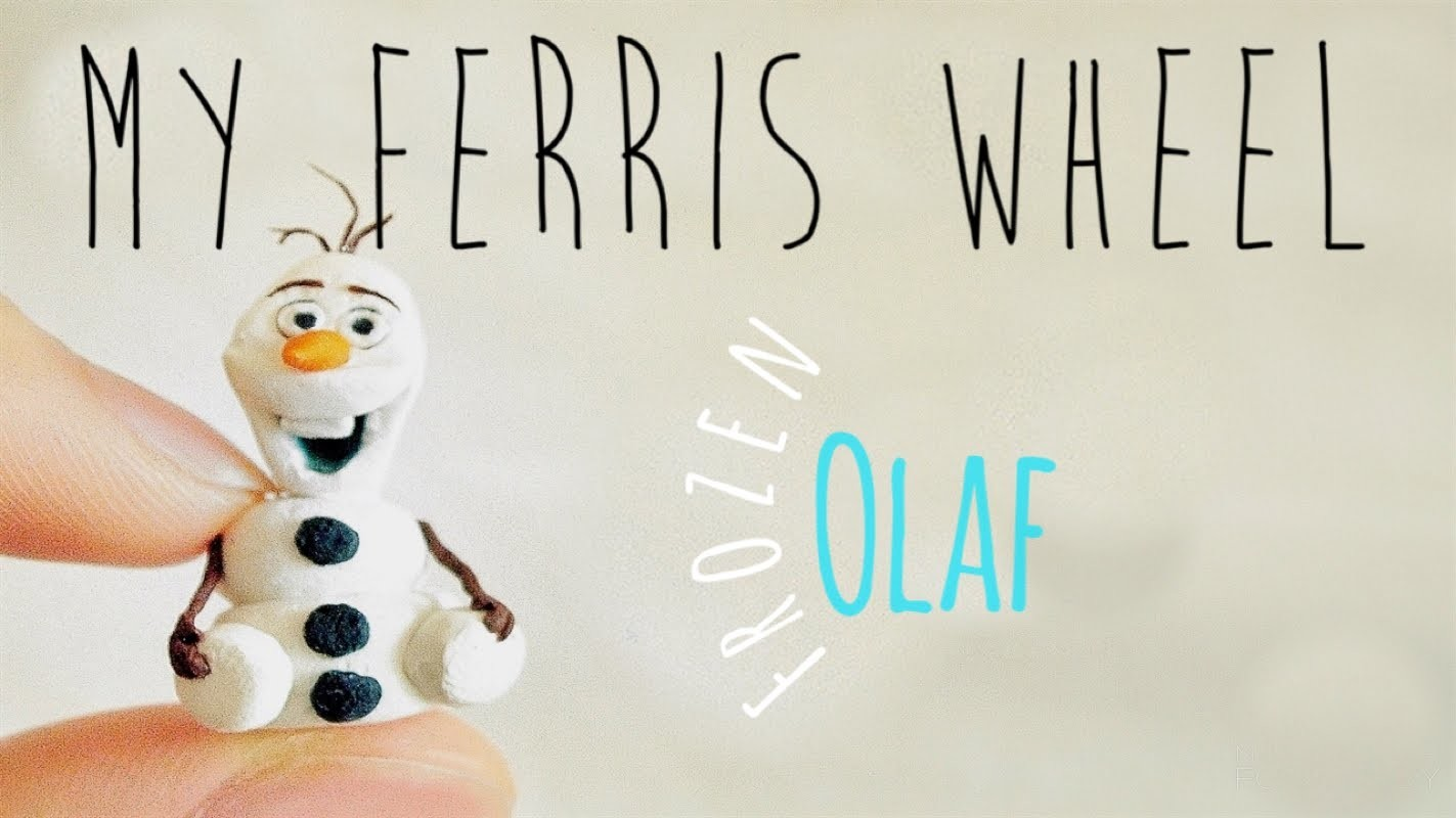 How to make a miniature Olaf out of polymer clay (Frozen)