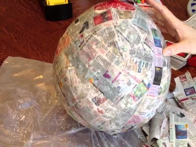 How to make a paper mache pinata party Mexican birthday party favor