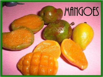 "How to make ""Mango fruits.  Clay art"
