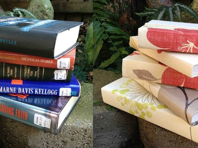 How to re-cover hardcover books for home decor