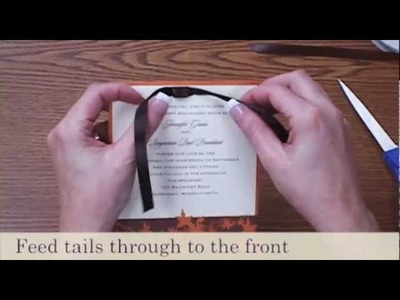 How to Tie a Bow - Flat Bow | Wedding Invitations