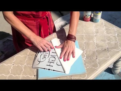 How To Use Vinyl Lettering As A Stencil