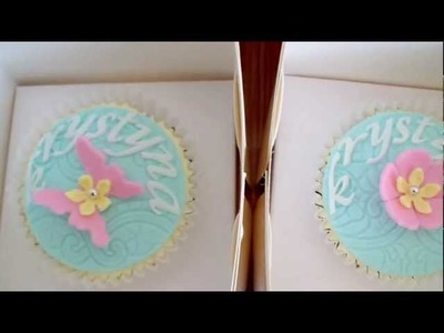 Individual Personalised Cupcakes - How to Tutorials on my channel