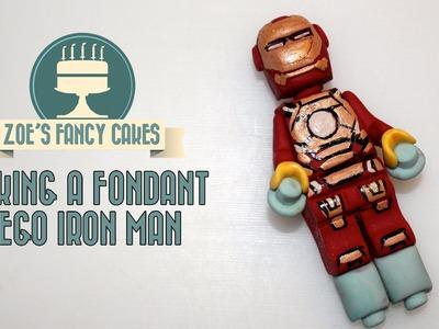 Making a fondant lego Iron man How To Cake Tutorial