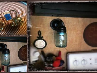 Mason Ball Jar Project - Primitive Sconce