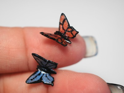 Miniature Butterfly Tutorial, Polymer Clay Tutorial