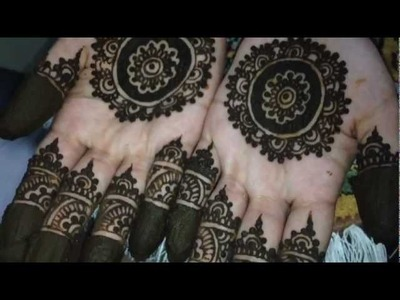 Moroccan Inspired Bridal Henna Design