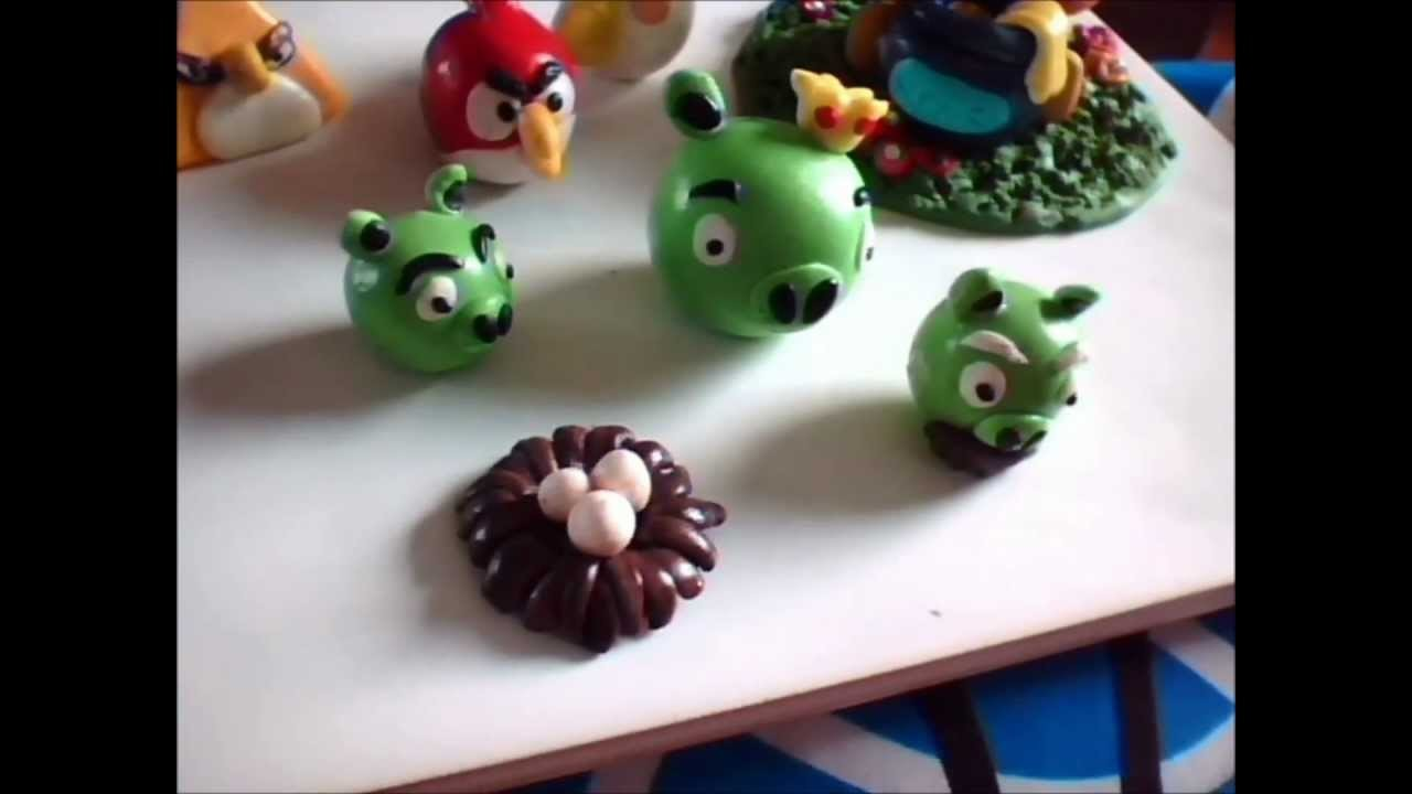 My first batch of Polymer Clay Fimo Creations charms, winnie the pooh, angry birds and more