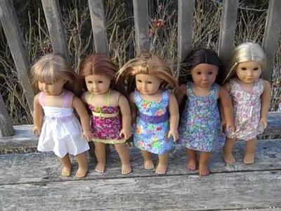 My hand make dresses for americsn girl dolls