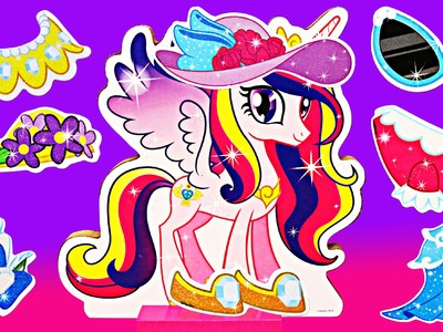 My Little Pony MLP Princess Cadance Magnet Paper Dolls Dress Up by ToysReviewToys