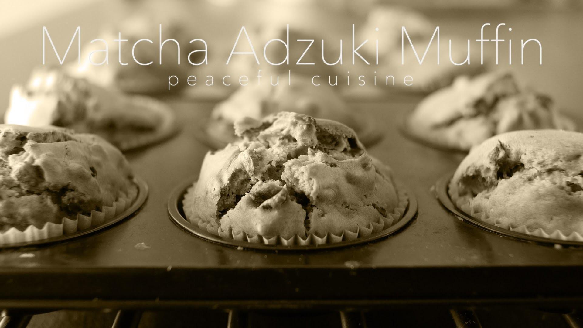 [No Music] How to make Matcha & Adzuki beans Muffin