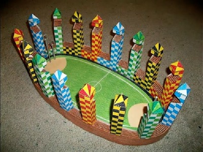 Paper Model of The Quidditch Pitch (Harry Potter)