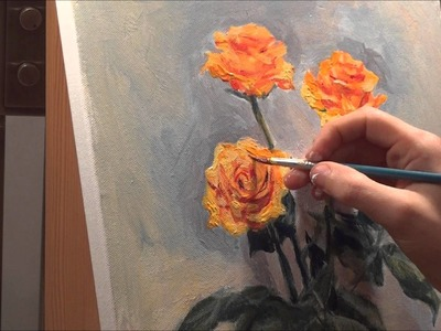 Roses - Acrylic Painting