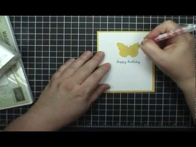 Stampin' Up! Backyard Basic Butterfly Window Card