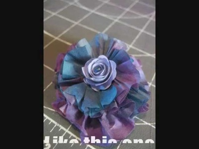 Tutorial: Colored coffee filter flower