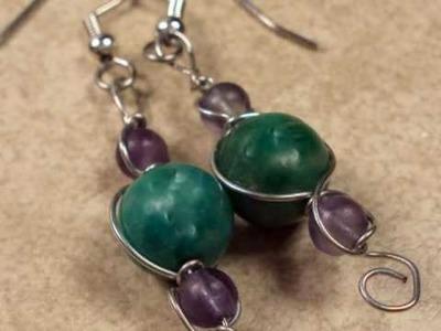 Wire Wrapped Earrings, Pendants and Bracelets.wmv
