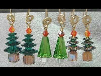 Christmas Tree Earrings Video Tutorial