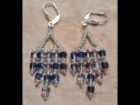 Crystal Cube Earrings Tutorial