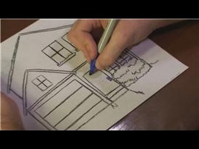 Drawing Lessons : How to Draw a Christmas House