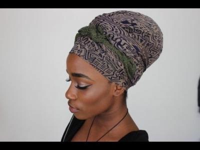 Erykah Badu Inspired Headscarf Tutorial