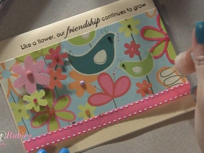 Friends Hand Stamped Card Featuring Viva Decor Products