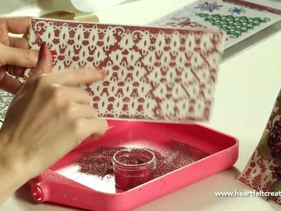 Heartfelt Creations Creating Lace With Christmas Trees