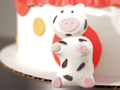 How to Make a Fondant Cow | Cake Fondant
