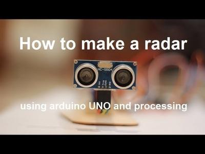 How to make a radar using arduino UNO and processing