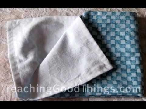 How to Make a Reversible Cloth Napkin