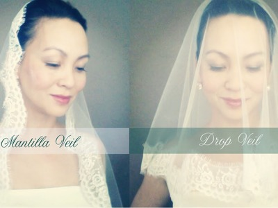 How to make a Wedding Veil with Lace Trim(Drop, Ballet Length, and Mantilla Veil)