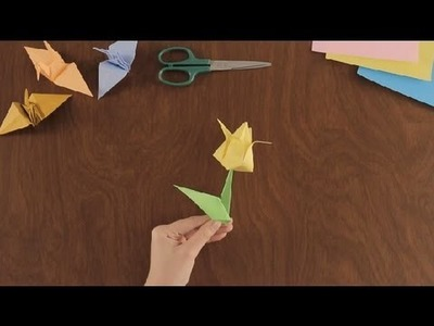 How to Make an Origami Flower: Part 1 : Simple & Fun Origami