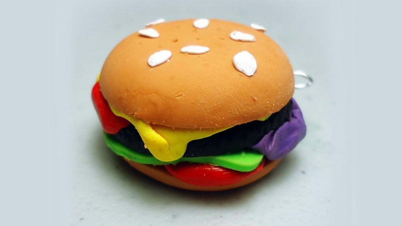 How to make polymer clay hamburgers. cheeseburgers - EP