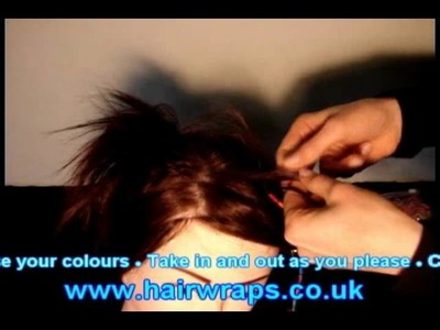 How to put in a tie-in.plait-in Hair-wrap. Hair-braid