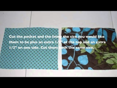How to Sew a Lined Patch Pocket - How to make a pocket
