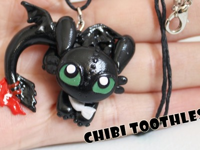 How to Train Your Dragon- Toothless Night Fury Dragon Polymer Clay Tutorial